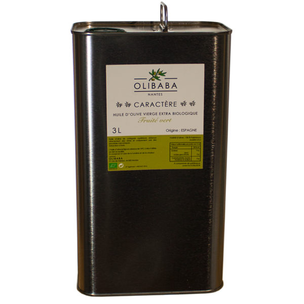 huile olive caractere bio 3 litres